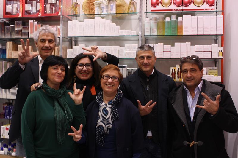 Inaugurazione Profumerie Sbraccia in via Canevari